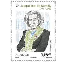Timbre - Jacqueline de Romilly - Lettre Prioritaire