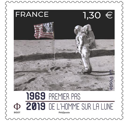 1969-2019 Premier pas de l'homme sur la Lune