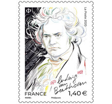 Timbre - Ludwig Van Beethoven - Lettre Prioritaire - International