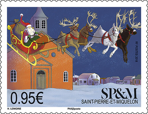 Saint Pierre et Miquelon et le traineau du Père Noël