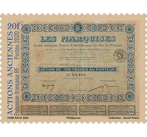 Polynésie Française - Actions Anciennes Les Marquises - 20F