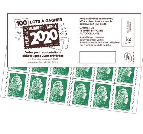 Lettre Verte - Couverture Election du timbre de l'année