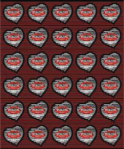 Feuille de 30 timbres Coeur - Sonia Rykiel - 100g