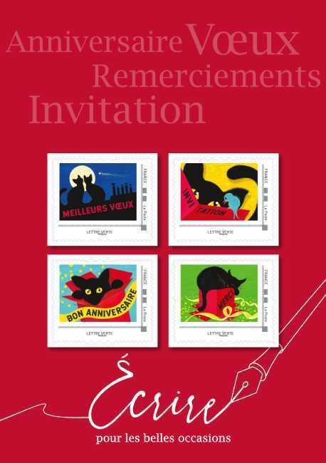 Collector 4 timbres - Simler - Lettre Verte