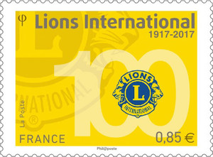 Agrandir l'image : Timbre - Lions International 1917-2017
