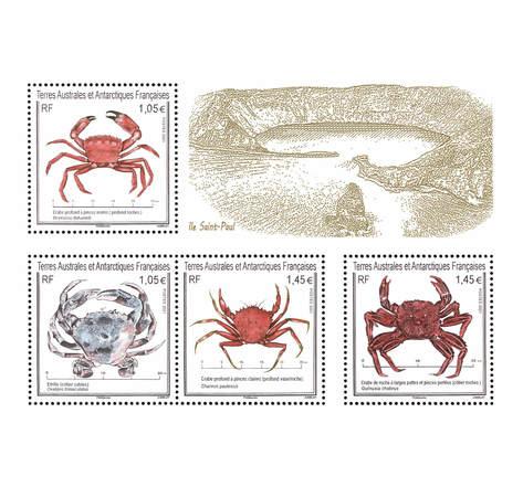 TAAF - Bloc - Crabes et étrille