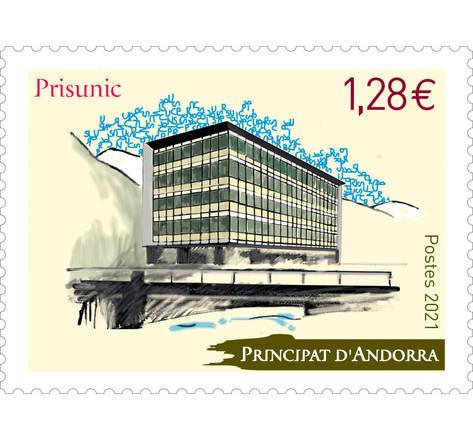 Timbre Andorre - Prisunic