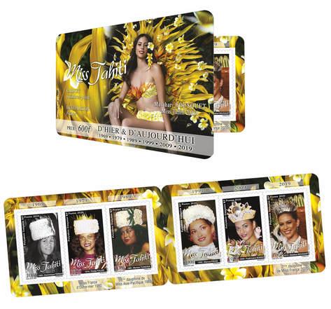 Carnet 6 timbres - Polynésie Française - Carnet Miss Tahiti - Edition 2020