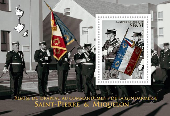 Saint-Pierre et Miquelon - Drapeau de la gendarmerie