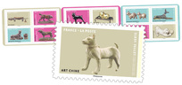 Carnet - Oeuvre d'art Chiens - 12 timbres autocollants