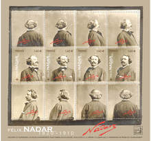 Bloc 4 timbres - Nadar - International