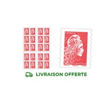 Carnet 20 timbres Marianne l'engagée - Lettre prioritaire - Rouge