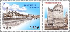 Timbre - Périgueux - Dordogne - Timbres Passions 2018