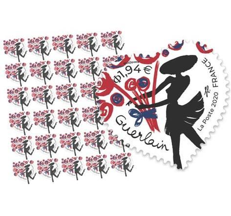 Feuille 30 timbres Coeur - Guerlain - 20g - Lettre verte