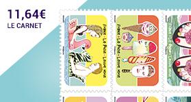 Un air de vacances avec ce carnet de 12 timbres!