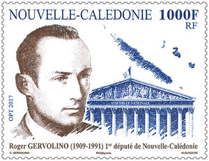 Nouvelle Calédonie - Roger Gervolino - 1er député calédonien