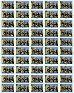 Feuille de 50 timbres - Notre Dame de Strasbourg - Lettre prioritaire