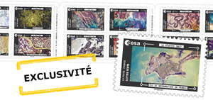 Carnet - Thomas Pesquet - La Terre vue de la Station Spatiale Internationale - 12 timbres autocollants