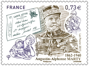Timbre - Augustin-Alphonse Marty 1862-1940