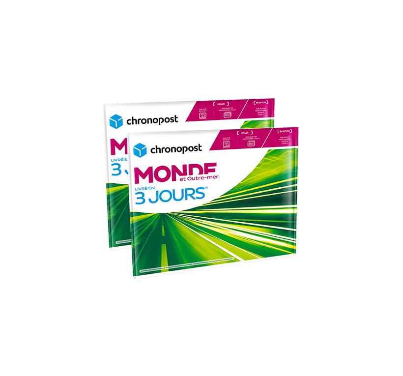 Enveloppe Chronopost - 1 kg - Monde et Outre-Mer - 2019
