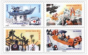 carnet la croix rouge fran aise en action 8 timbres autocollants boutique particuliers la. Black Bedroom Furniture Sets. Home Design Ideas