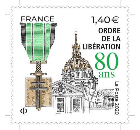 80 ans de l'ordre de la libération - Lettre Prioritaire - International
