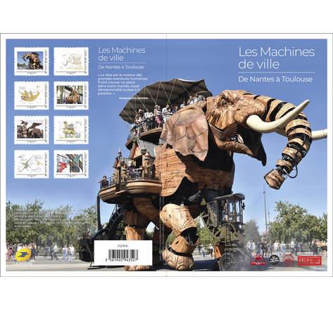 Collector 8 timbres - Les machines de ville - Lettre Verte