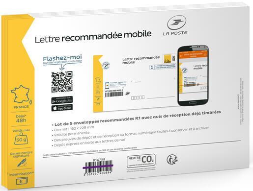 Prêt à Poster Lettre Recommandée Mobile 50g Enveloppes