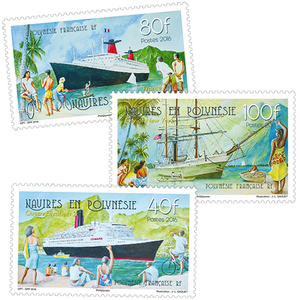 Polynésie française - Série navires en Polynésie