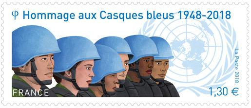 Timbre - Hommage aux Casques bleus 1948 - 2018