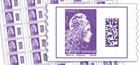 Feuille de 50 timbres Marianne l'engagée - violet - International