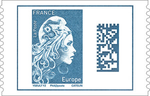 Feuille de 50 timbres Marianne l'engagée - Europe
