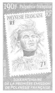 Polynésie Française - 60 ans du premier timbre en Polynésie Française