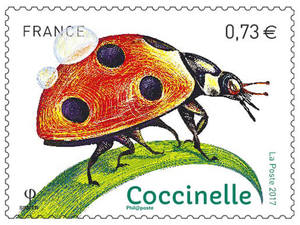 Timbre - Insectes - Coccinelle