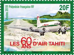 Polynésie Française - 60 ans Air Tahiti - 20F