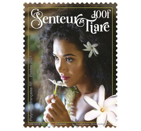 Timbre Polynésie Française - Senteur Tiare