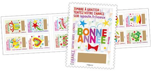 carnet de timbres gratter plus que des v ux 12 timbres autocollants boutique. Black Bedroom Furniture Sets. Home Design Ideas