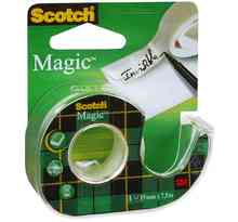 Ruban adhésif Magic 810, invisible, en devidoir 19mm x 7,5 m SCOTCH