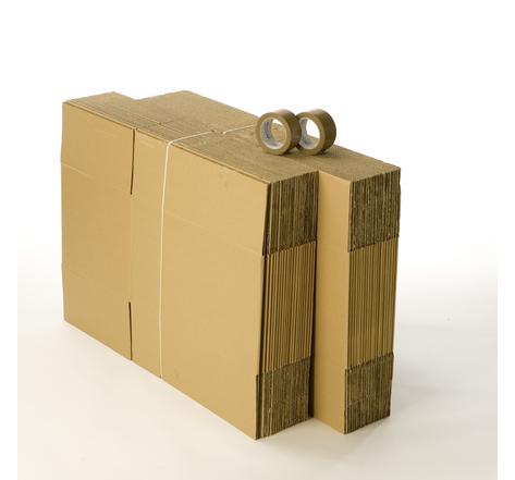 Kit 40 cartons standard avec 2 rouleaux d'adhésif gratuits