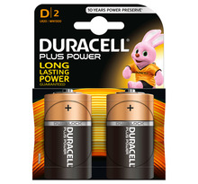 Duracell Plus Power 2 piles 1,5V alcalines D (lot de 3)