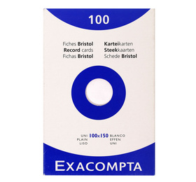 Etui de 100 fiches bristol ligne non perfore 100x150mm