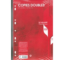 Copies Doubles perforées A4 200 p 5x5 -perforées 70 g CLAIREFONTAINE