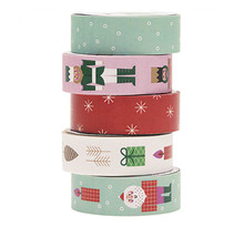 Set de 5 masking tapes Noël