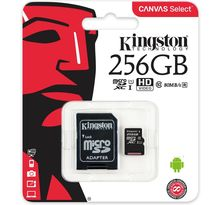 Carte mémoire Micro Secure Digital (micro SD) Kingston Canvas Select 256 Go SDXC Class 10 avec adaptateur