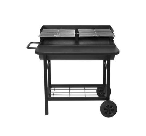 Barbecue 2 grilles réglables au charbon de bois ALABAMA avec tablette