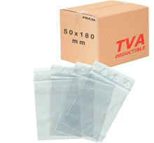 Lot de 1000 Sachets zip transparent 50µ 50×180