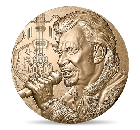 Médaille Johnny Hallyday