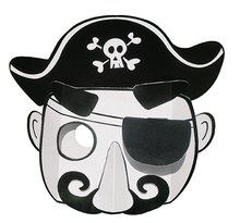 Masque enfant 3D carte forte capitaine pirate à colorier et à monter - MegaCrea DIY