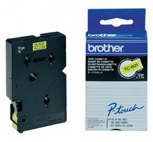 Cassette Ruban TC noir/jaune 12mmx7,7m TC601 BROTHER
