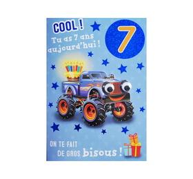 Carte De Voeux Enfant Anniversaire 7 Ans Garcon Kbc Boutique La Poste